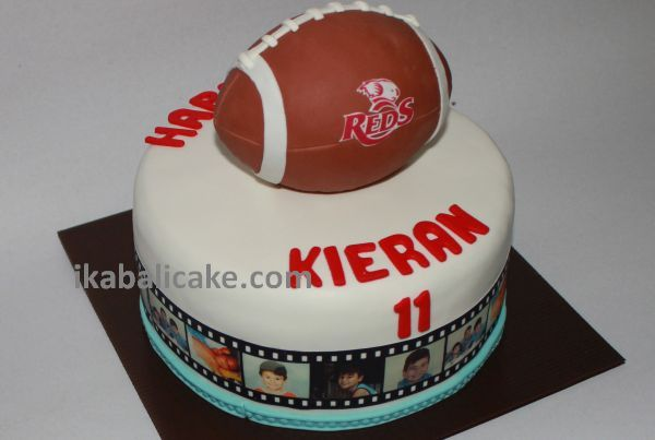 Reds Rugby Fan Birthday Cake