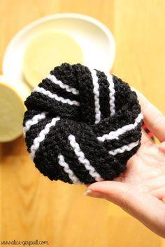 Tawashi facile à tricoter, DIY par Alice Gerfault