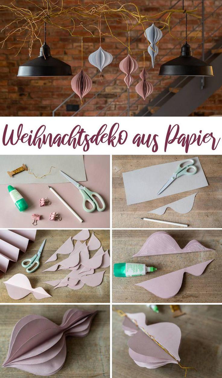 DIY – Faça você mesmo as decorações de Natal com papel   – Basteln