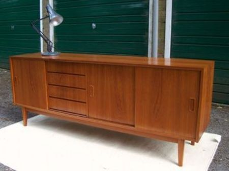 Teak furniture...it's similar to my console table....I love this style