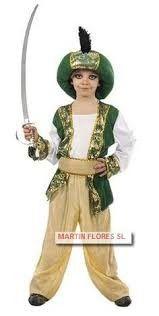 Disfraz beduino o paje real verde y dorado en sevilla www.martinfloressl.es