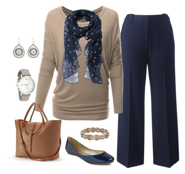 """""""Plus Size Outfit, Fall Work Outfit"""" by jmc6115 on Polyvore featuring Doublju, Mellow World, Kate Spade and Napier"""