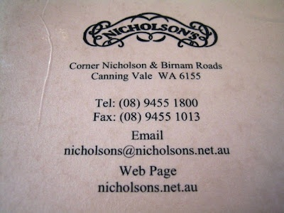 Nicholson's for family dining and large groups.
