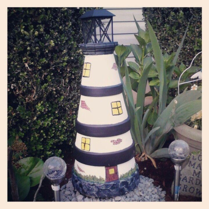 This Is My Clay Pot Lighthouse