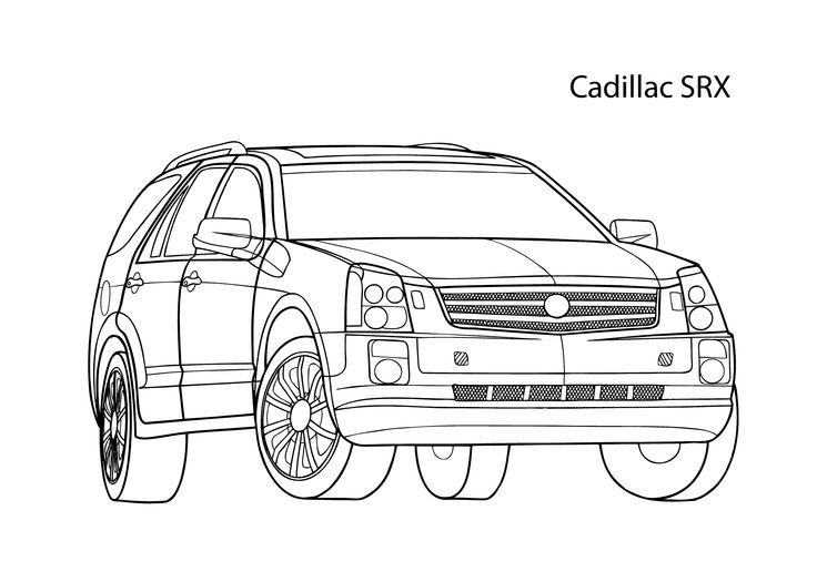 Cadillac Car Coloring Pages : Best coloring pages for kids images on pinterest