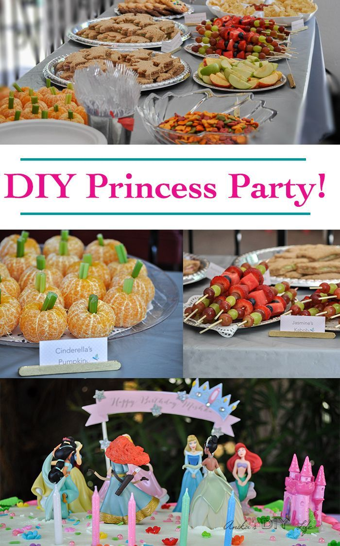 DIY Princess birthday party ideas - food, decorations and activities