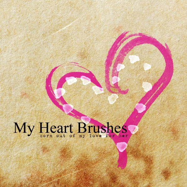 My Heart Brushes - Hearts Photoshop Brushes   BrushLovers.com*