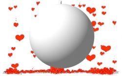 Ballon explosif confettis blanc