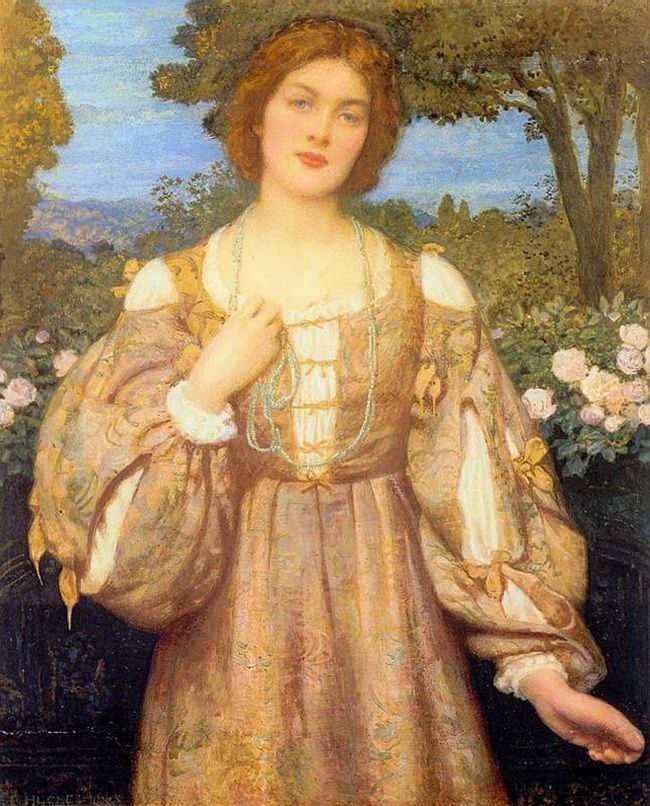 "Monna Giovanna \ Edward Robert Hughes (1851–1914) - English painter.\ other pictures on the board "" artists """