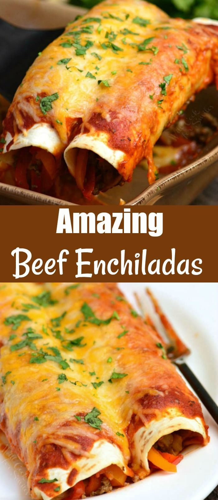 Beef Enchiladas In 2020 Mexican Food Recipes Enchiladas Beef Enchiladas Homemade Enchiladas