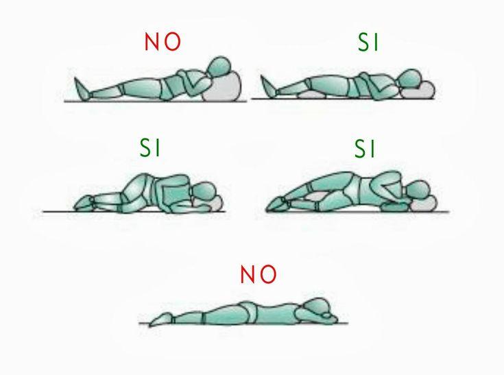 dormir de lado posturas