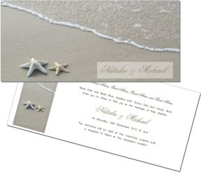 Stunning beach wedding invitation. To order or see more go to: www.allyourinvites.com.au