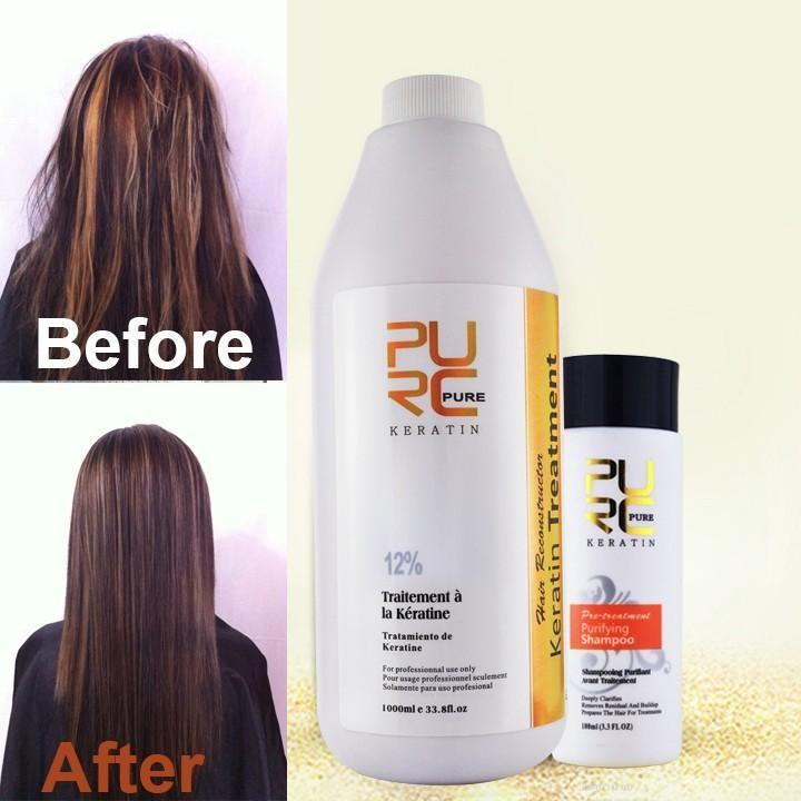 12% Formaline braziliaanse keratine behandeling en 100 ml diepe cleanning shampoo groothandel Professionele salon kapsels haarverzorging