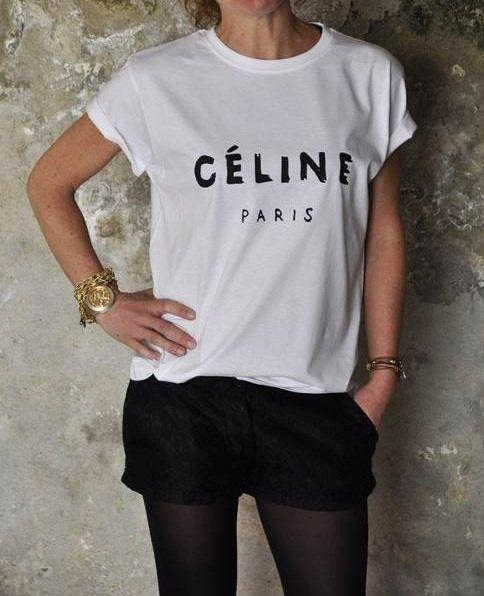Celine Paris T-shirt Style Printed T-shirt women by yourteeline
