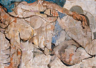 Fausto Pirandello (1899-1975) 'Donna Sdraiata', 1953