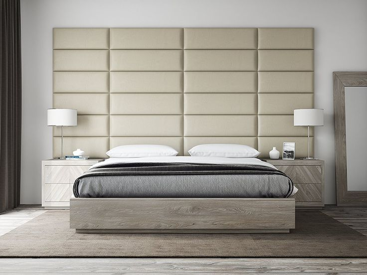 Best 25 full size headboard ideas on pinterest for Padded wall wallpaper