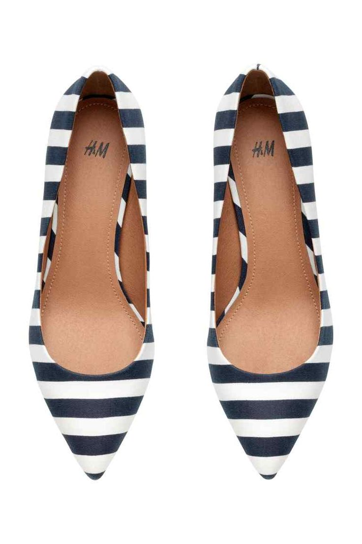 Striped court shoes | H&M