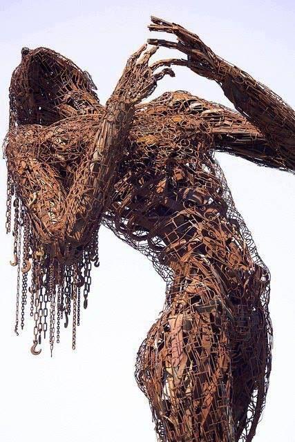 Welded from Steel Scraps | Scrap Metal Art