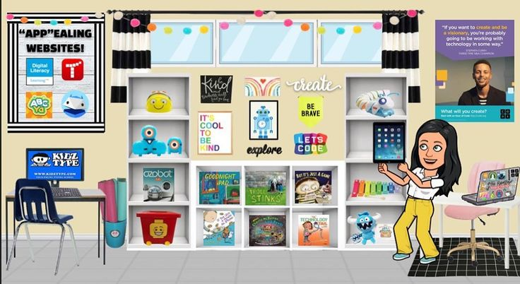 Bitmoji Classroom Scenes & Virtual Classroom Backgrounds