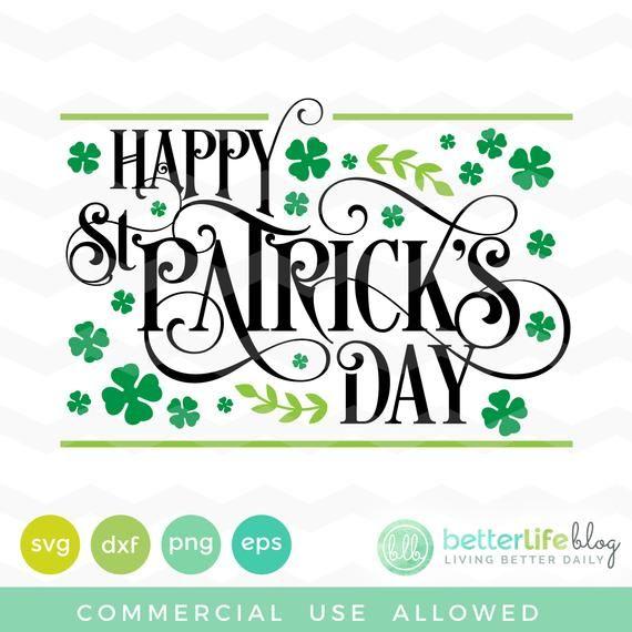 Happy St Patrick's Day Svg: St Patrick's Day Happy SVG File, DXF Silhouette Cameo, Cricut Explore Sv