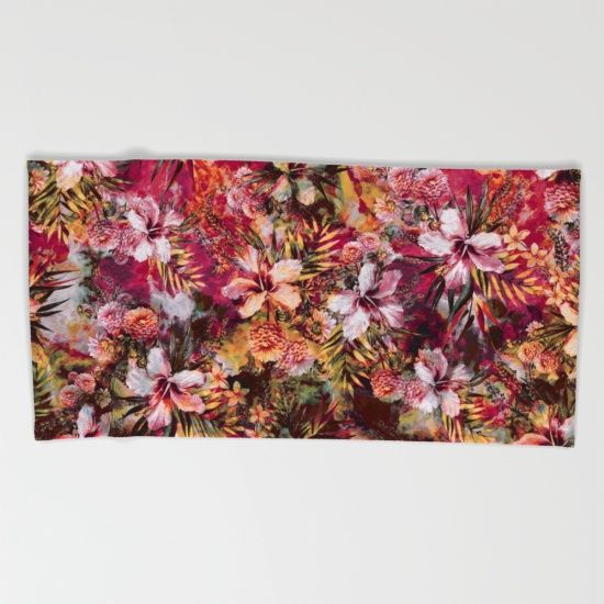 BEACH TOWEL #tropical #summer #flowers #fashion