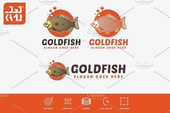 Gold Fish Logo Fish Logo Logos Goldfish