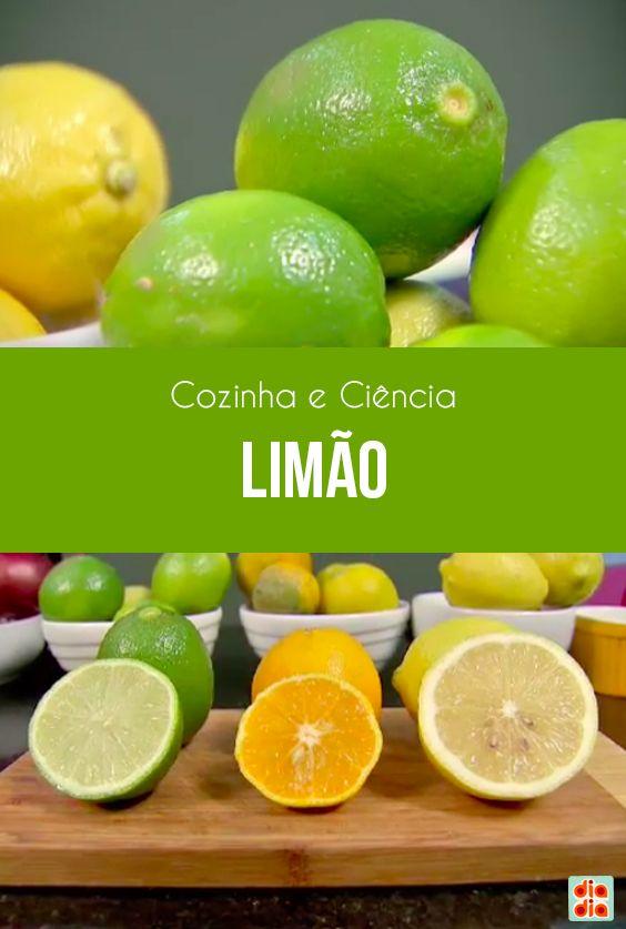 O professor Dinho falou sobre todas as curiosidades e versatilidades de três tipos de limão.