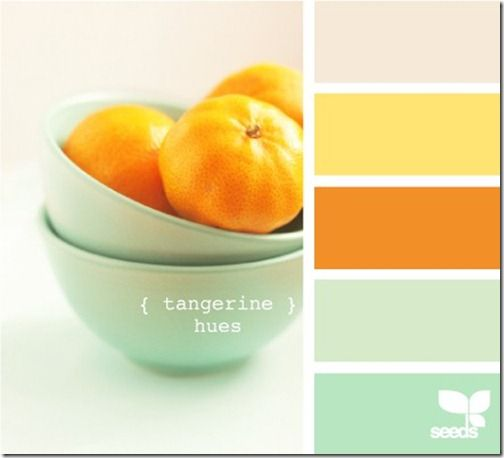I like these colors for a bright kitchen!