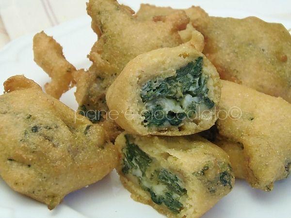 Crocchette di spinaci e mozzarella filante
