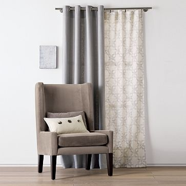 like the mix of solid and printed curtains