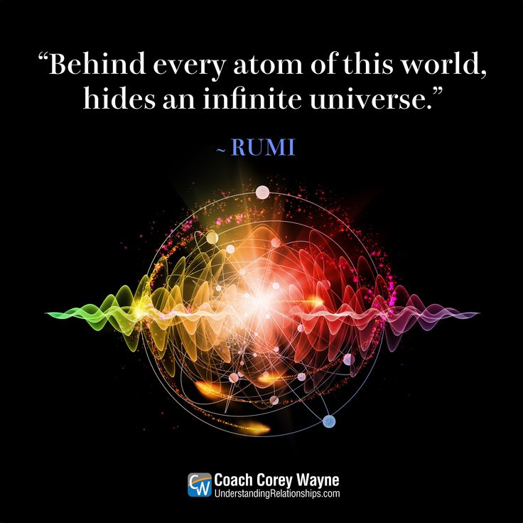 "#rumi #ancient #wisdom #sunni #persian #poetry #hidden #universe #atoms #infinite #science #possibilities #coachcoreywayne #greatquotes Photo by iStock.com/agsandrew ""Behind every atom of this world, hides an infinite universe."" ~ Rumi"