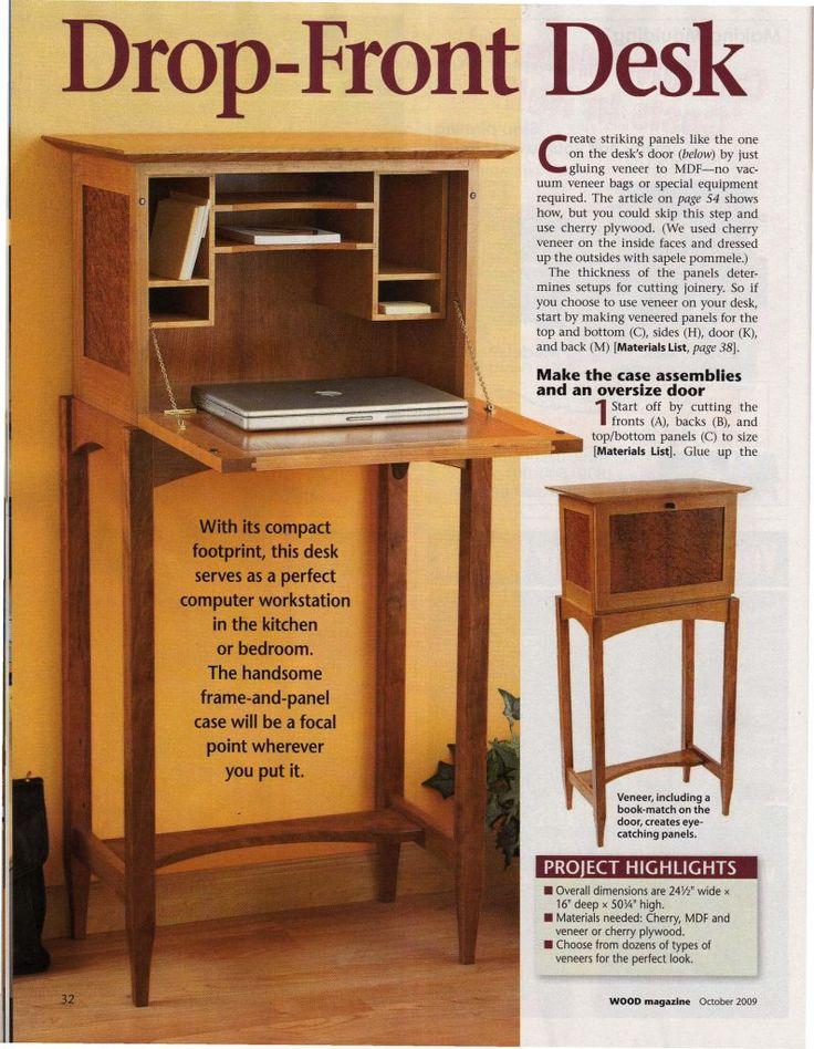 Drop Front Desk DIY plan