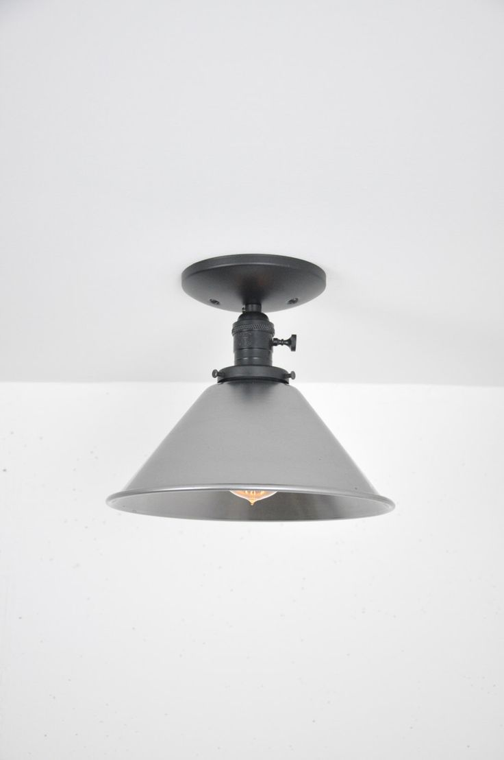 10 Inch Unfinished Steel Ceiling Light by wiresNjars on Etsy