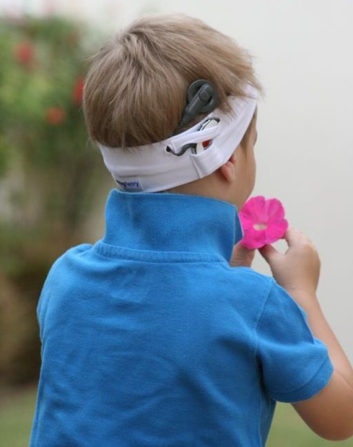 A Design That Works! Our headbands are designed to fit all brands of Cochlear Implants, and ensure the coil and processor never separate from the headband.