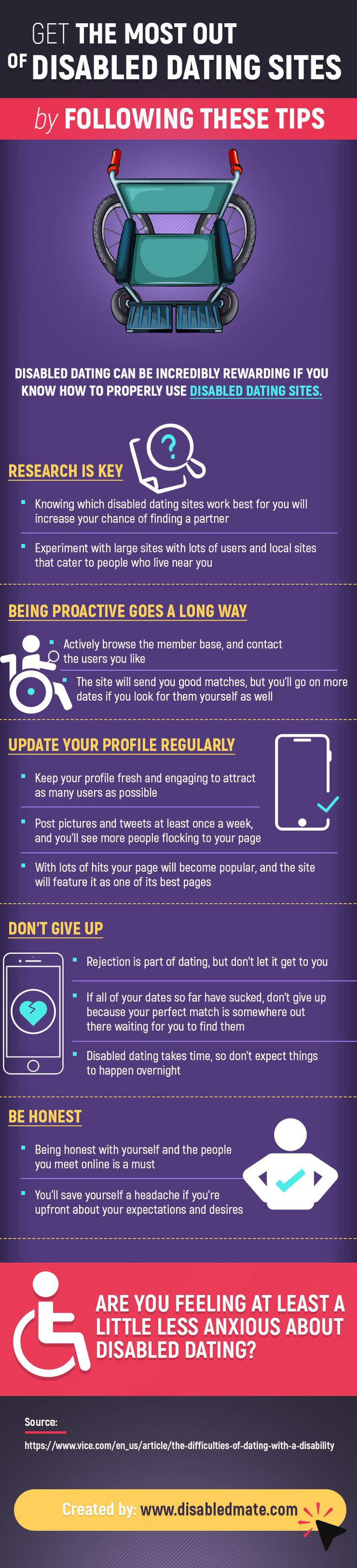 Disabled dating can be incredibly rewarding if you know how to properly use disabled dating sites.