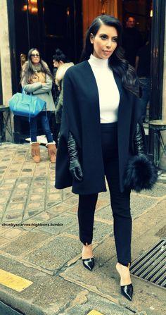 Resultado de imagen de kim kardashian winter fashion