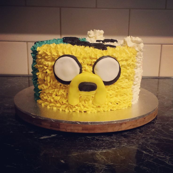 My sons' 5th Birthday Cake Part 3 - Jake The Dog from Adventure Time - #Linnylicious Cupcakes