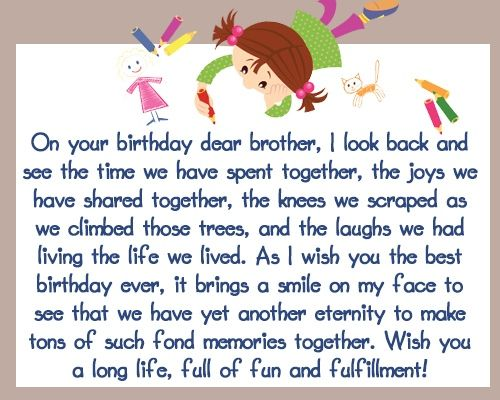 Happy Birthday Wishes For Your Brother