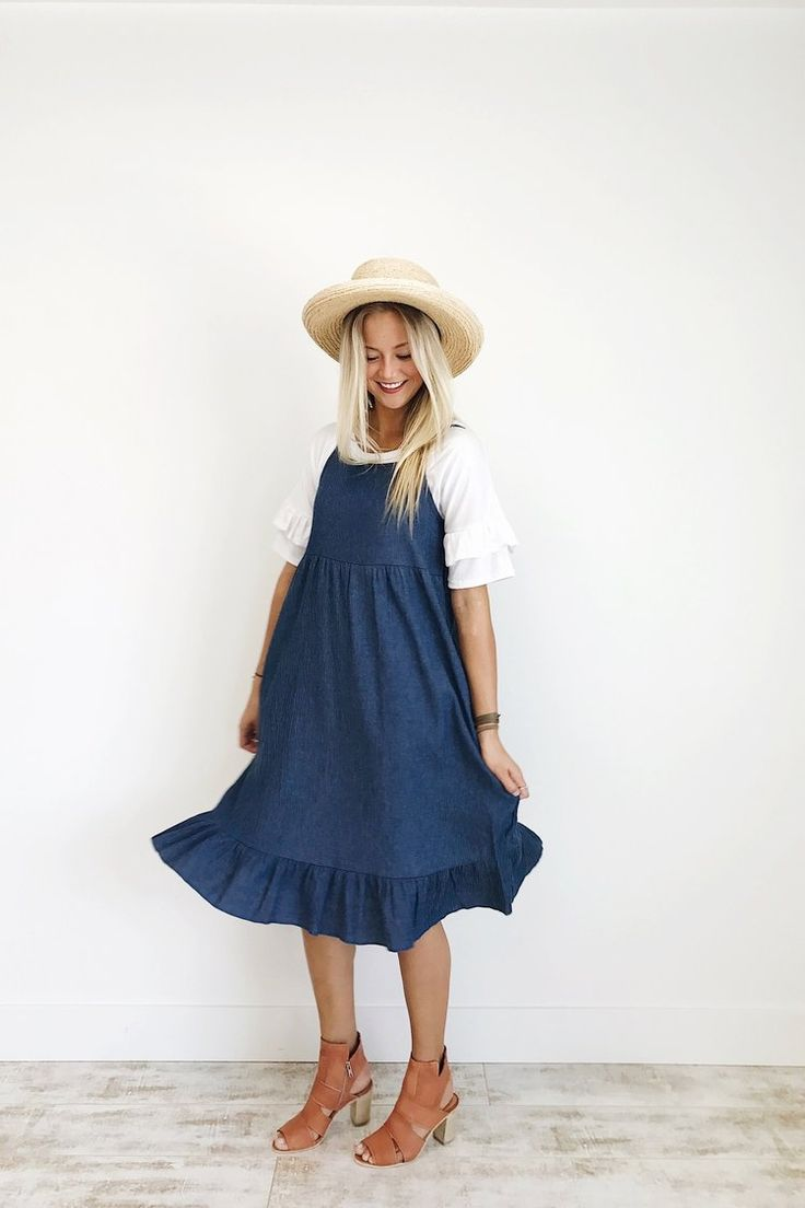 Denim Summer Dress | ROOLEE