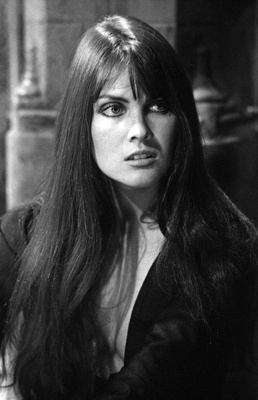 """""""Dracula A.D. 1972"""" - Caroline Munro - Caroline Also Played The Helicopter Pilot Who Met A Tragic End In """"The Spy Who Loved Me""""...My Friends And I Got Our Picture Taken With Her At This Year's MONSTERPALOOZA In Burbank!"""