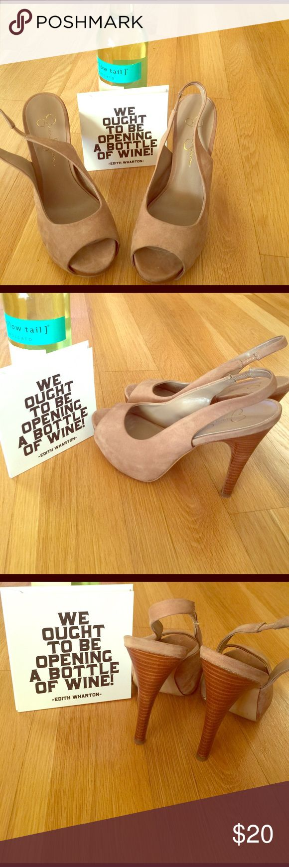 Avail now! Jessica Simpson Suede Heels Still on vacation but these are avail to ship immediately along with the other items that say Avail Now! These Jessica Simpson heels are Suede, preowned and are a size 8.5 Jessica Simpson Shoes Heels