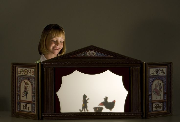 Nice design for a small shadow puppet theatre.