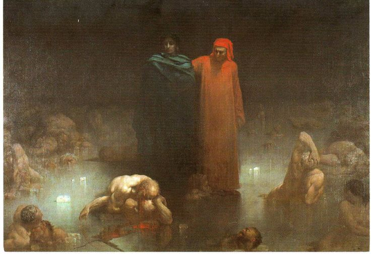 missfolly: Dante and Virgil in the 9th Circle of Hell by Gustave ...