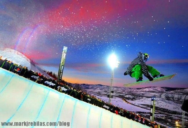 Mark J. Rebilas sports photographer - Halfpipe Winter X games