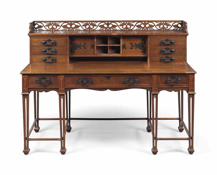 Vintage arts and crafts oak desks