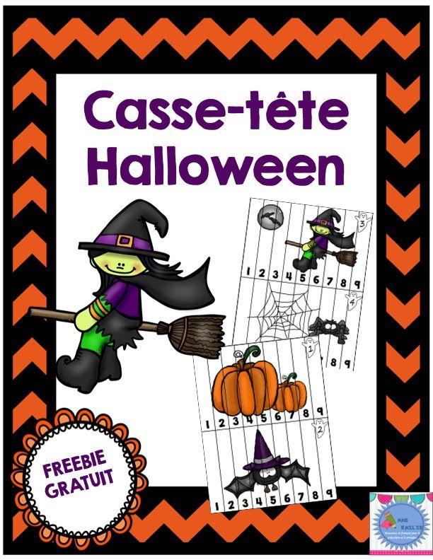 Freebie Casse-tête Halloween