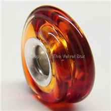 the velvet box lampwork glass candied apple swirl bead yummy