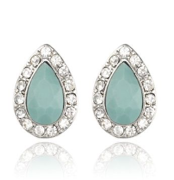 FOREVER LOVE STUD EARRINGS - TURQUOISE