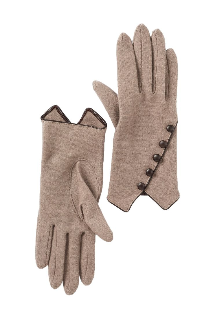 Multi Button Wool Gloves by Vincent Pradier on @nordstrom_rack.  Asym button back.