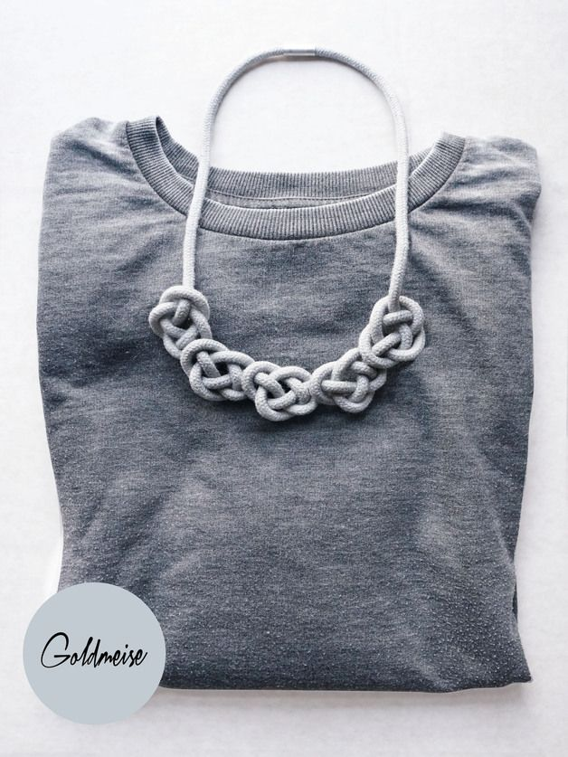 Statement Ketten - Knotenkette 'Mini-Tarifa', handgefärbtes Seil - ein Designerstück von Goldmeise bei DaWanda